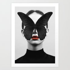 BLACK BUTTERFLY Art Print