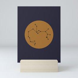 Sagittarius Constellation - Bold Blue & Gold Mini Art Print