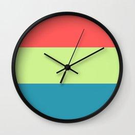 happy color block Wall Clock