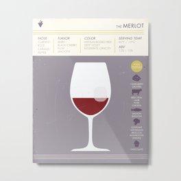 Merlot Wine Art Print Metal Print