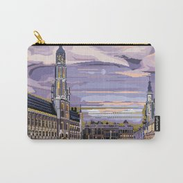 Brussels, Belgium pixel art Carry-All Pouch