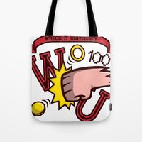 wreck it ralph Tote Bags featuring Wreck-It Ralph: Wreck-It University by Macaluso