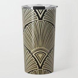 Golden Art Deco pattern Travel Mug
