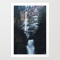 WINTER FALLS - landscape photography Art Print