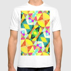 Kaleidab White MEDIUM Mens Fitted Tee