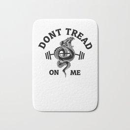Don't Tread On Me Gadsden Barbell  Bath Mat