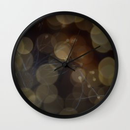 Indoor bokeh Wall Clock