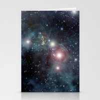 outer space Stationery Cards featuring Outer Space by apgme