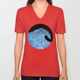 Abstract wave Unisex V-Neck