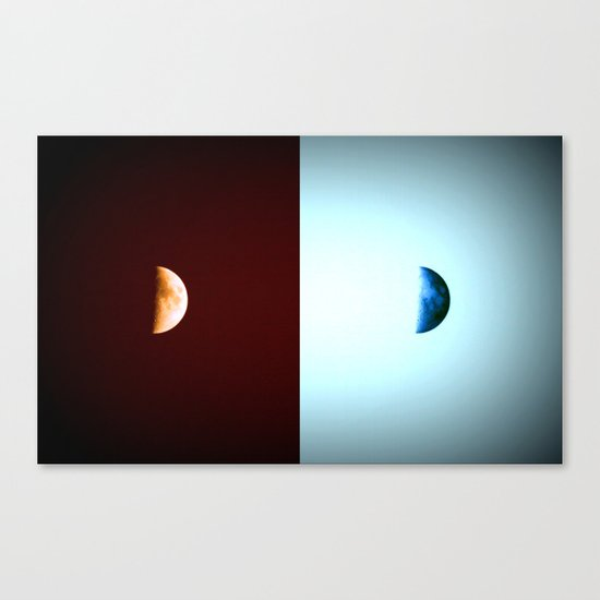 Glowing Waxing Crescent Canvas Print