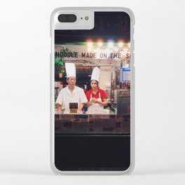 Made on the spot Clear iPhone Case