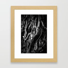 Thai Buddha Head Ayutthaya Framed Art Print
