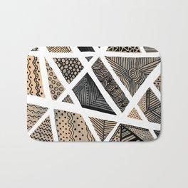 Geometric doodle pattern - neutral Bath Mat