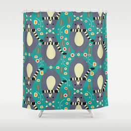 Little bears and flowers Shower Curtain