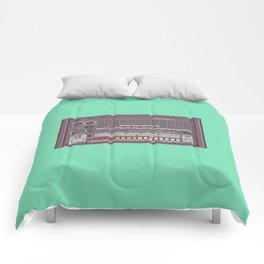 Roland TR-808 Rhythm Composer Vector Illustration Comforters