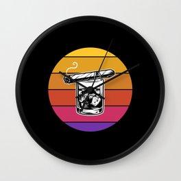 Retro Cigar Lover Cuban Smoker Gift Wall Clock