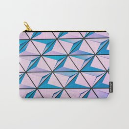 Pattern blue purple Carry-All Pouch