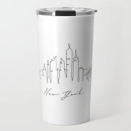 Pen line silhouette New York Travel Mug