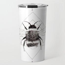 Minimalist Bee in the Garden Travel Mug