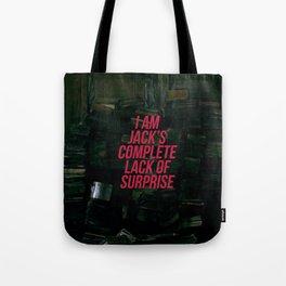 Lack of Surprise Tote Bag