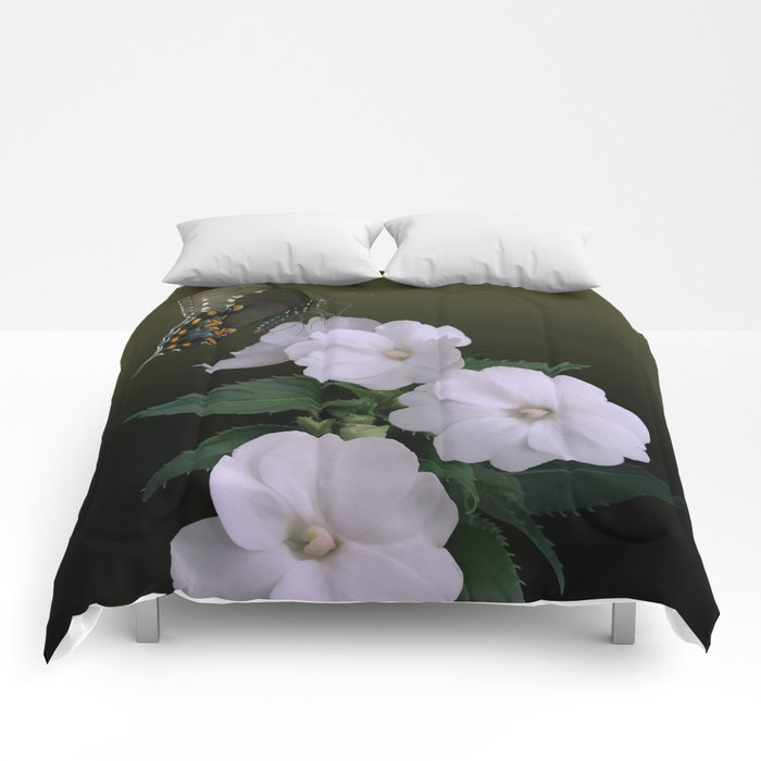 Sunpatiens and Swallowtail Butterfly Comforters