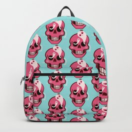 Cute Skull With Spider And Ghosts In Eye Sockets Backpack