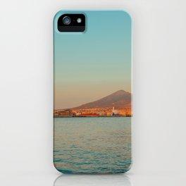 Vesuvio and Naples at Sunset iPhone Case