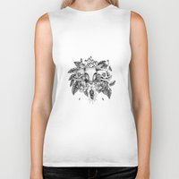 transparent Biker Tanks featuring Transparent Temper by Emma LaPine
