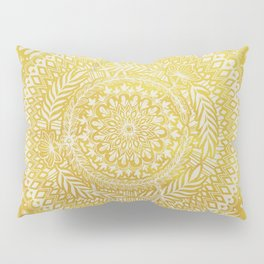 Medallion Pattern in Mustard and Cream Pillow Sham