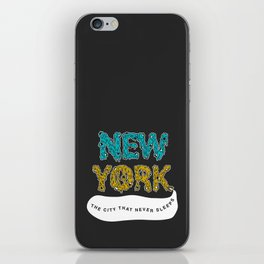 The Melted City, That Never Sleeps. iPhone Skin