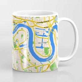London Map design Coffee Mug