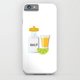 The Three Amigos Tequila Lime Salt Cinco De Mayo Design iPhone Case