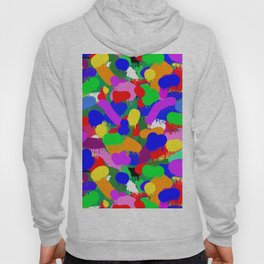 Paint Splodge Colour Abstract Hoody