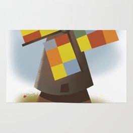 Holland travel poster Rug