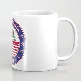 California, California t-shirt, California sticker, circle, California flag, white bg Coffee Mug
