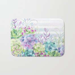 Summer Succulents Bath Mat