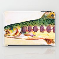 trout iPad Cases featuring Papa's Trout by Tamra Sheline