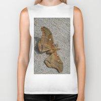 moth Biker Tanks featuring Moth by Deb MacNeil