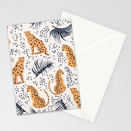 CHEETAHS & LEAVES Stationery Cards