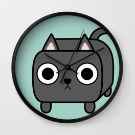 Cat Loaf - Grey Kitty Wall Clock