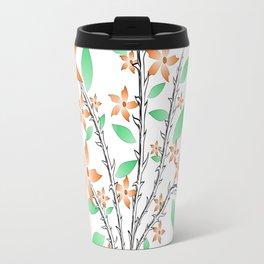 Orange flowers Travel Mug