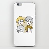 golden girls iPhone & iPod Skins featuring Thank You for Being a Friend (Golden Girls) by Marcelo Galvao