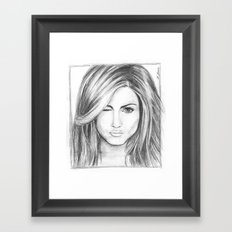 Jennifer Aniston Framed Art Print