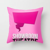 theatre Throw Pillows featuring Showroom Theatre by Chris Andrawes