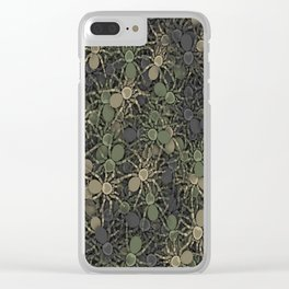 Spider camouflage Clear iPhone Case