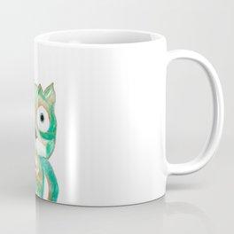Owl Fun #4 #mint #green #gold #drawing #decor #art #society6 Coffee Mug