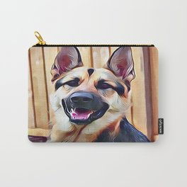 Happy German Shepherd Carry-All Pouch