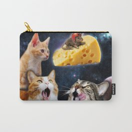 Cats and the mouse on the cheese Carry-All Pouch