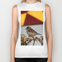 sparrow Biker Tanks featuring Sparrow by IowaShots
