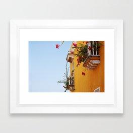 cartagena colors Framed Art Print